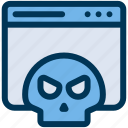 malware, virus, webpage icon