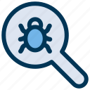scan, search, virus icon