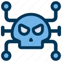 hacker, malware, virus icon