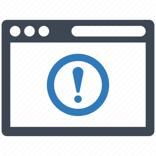 alert, browser, error icon