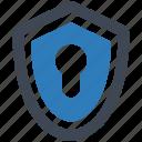 lock, security, shield icon