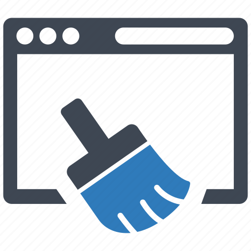 browser, cleaner, cleanup icon