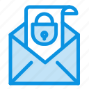 email, mail, message, security icon