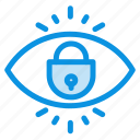 eye, internet, lock, security