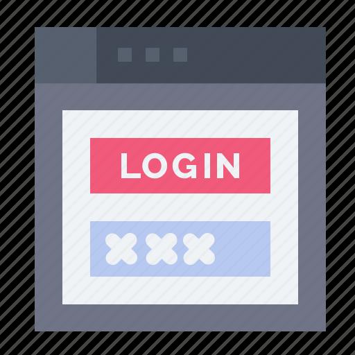 internet, password, security, shield, web icon