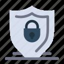 internet, lock, security, shield