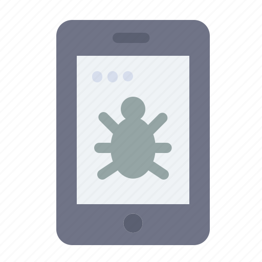 Bug, mobile, security icon - Download on Iconfinder