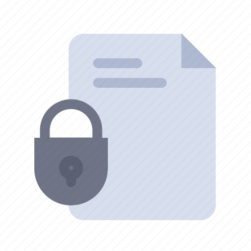 Document, file, internet, lock, security icon - Download on Iconfinder
