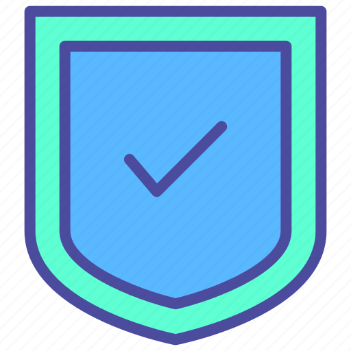 check, secure, security, shield, tick icon