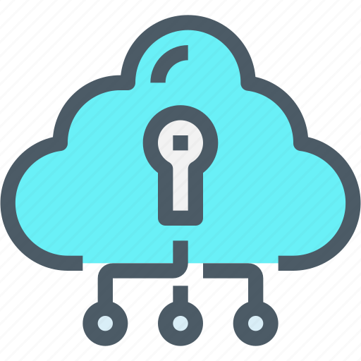 cloud, connect, network, padlock, secure, security icon