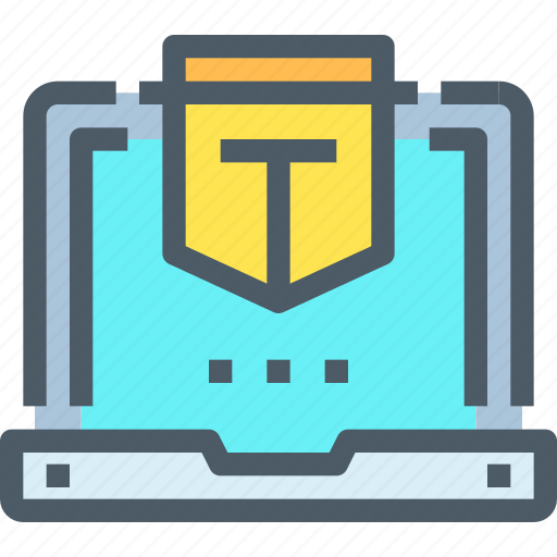 computer, laptop, protect, secure, security, technology icon