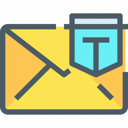 communication, email, letter, mail, message, protection, secure icon