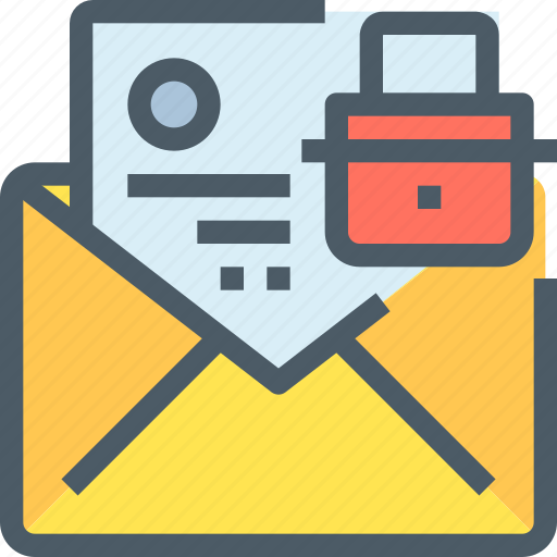 document, email, mail, message, padlock, secure, security icon