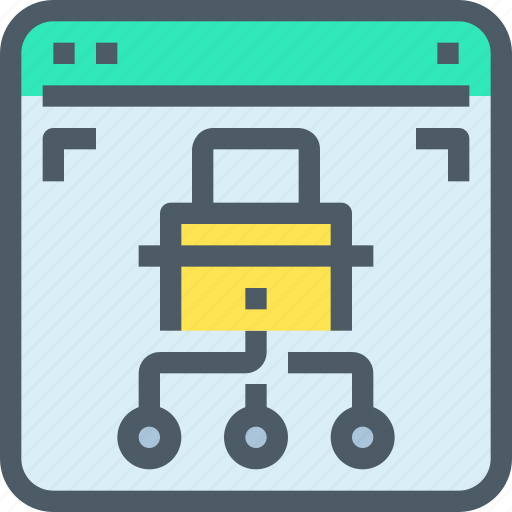 browser, connect, internet, network, padlock, security icon