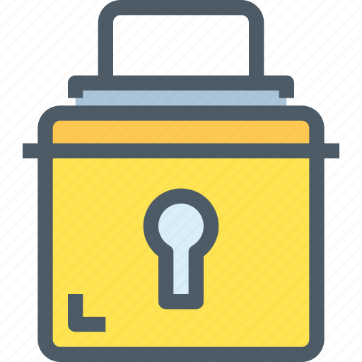 bank, hack, office, padlock, protect, secure, security icon