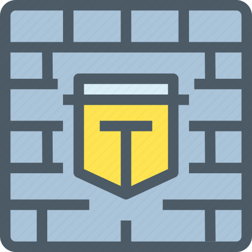 computer, firewall, hack, secure, security, wall icon