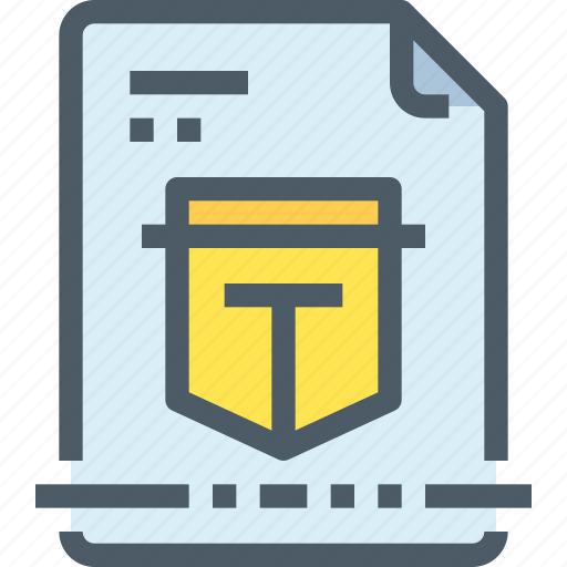 bank, business, document, file, protection, secure icon