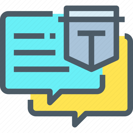 chat, communication, log, protection, secure, talk icon