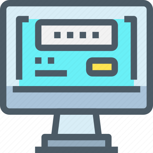 computer, login, password, secure, security, technology icon