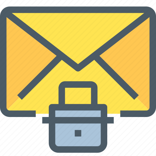 communication, email, letter, mail, message, padlock, security icon