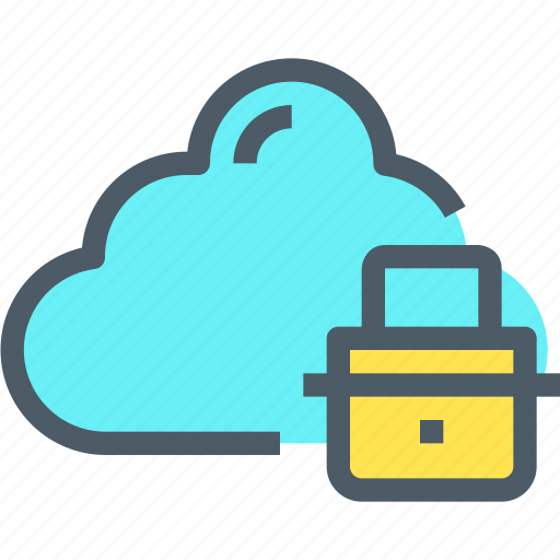 cloud, network, padlock, secure, security icon