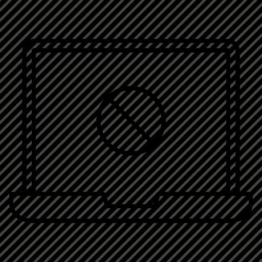 ban, block, laptop, notebook, stop icon
