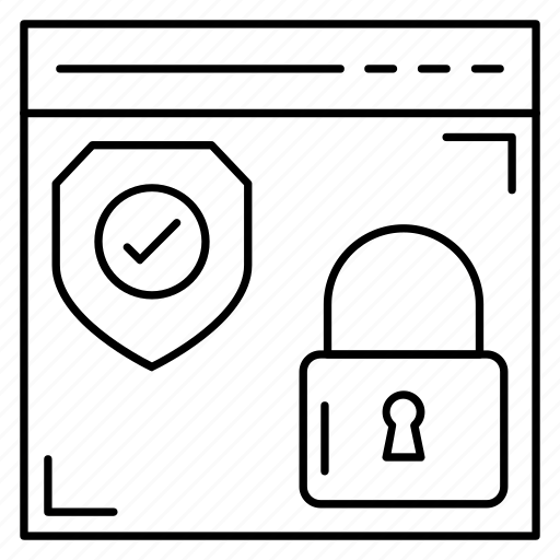 browserlock, internet, lock, protection, webpage icon