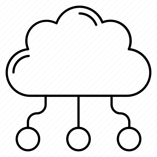 cloud, computing, connection, network, sharing icon