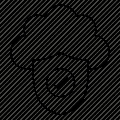 cloud, defense, protection, safeguard, security icon