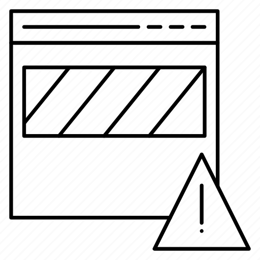 error, exclamation, notice, waring, webpage icon