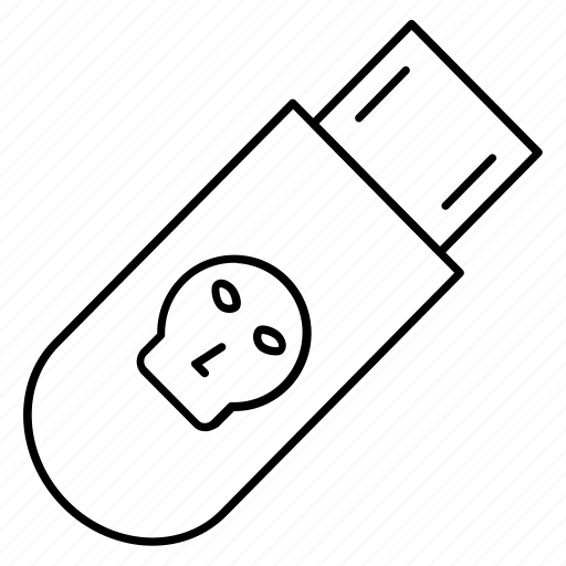danger, drive, flash, storage, usb icon