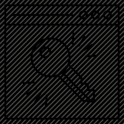 internet, key, lock, secure, webpage icon