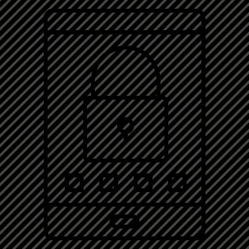 device, lock, mobile, password, phone icon