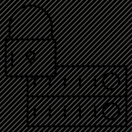 lock, private, protection, server, storage icon