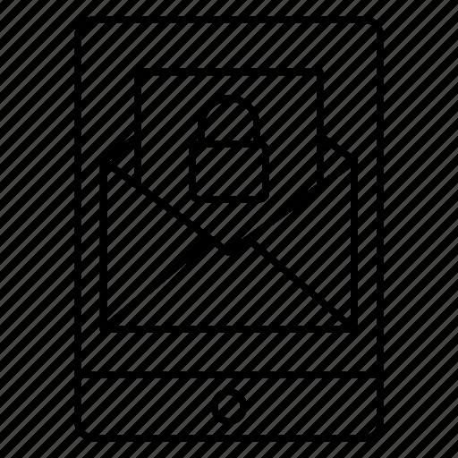 maillock, message, mobile, phone, private icon