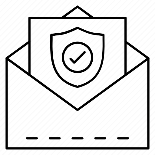 mail, message, open, private, secure icon