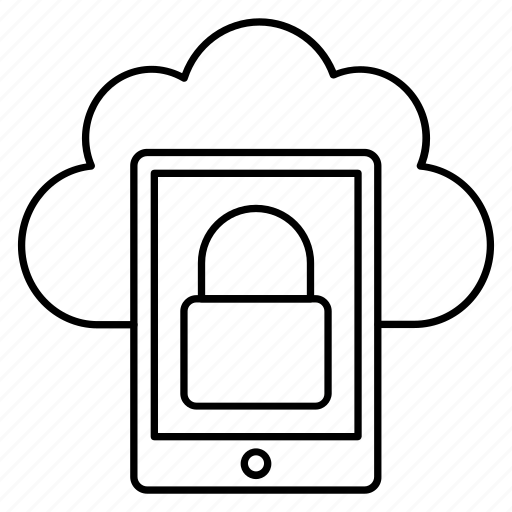 cloud, mobilelock, phone, private, storage icon