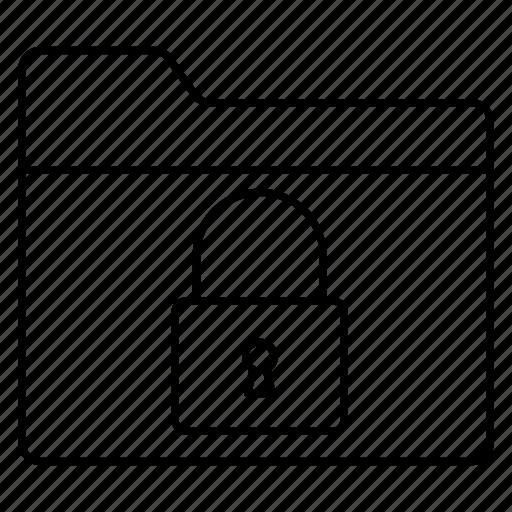 archive, folder, lock, private, secure icon