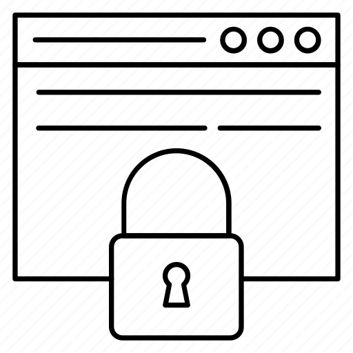 lock, private, protect, secure, webpage icon