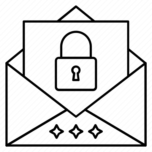 lock, message, privateemail, protection, secure icon
