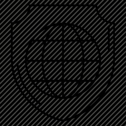 lock, private, safeguard, secure, shield icon