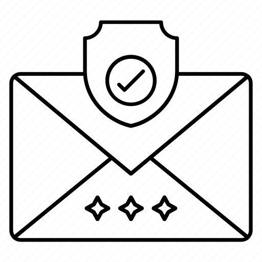 mail, message, protection, secure, shield icon