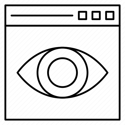 browser, internet, view, web, window icon