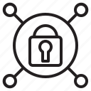 connection, internet, lock, security icon