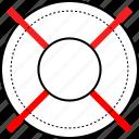 online, seo, target, web icon