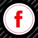 facebook, internet, seo, web icon