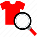 design, product, search, tee icon