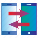 backup, data, mobile, smartphone, sync, transfer icon