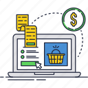 buy, dollar, internet, online, payment, shopping, slip icon