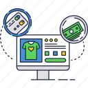 card, credit, internet, online, payment, shopping, store icon